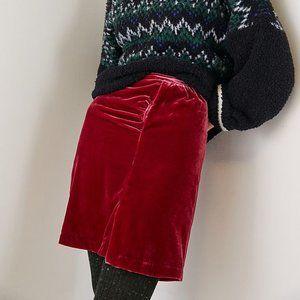 Anthropologie Montie Velvet Mini Skirt Soft